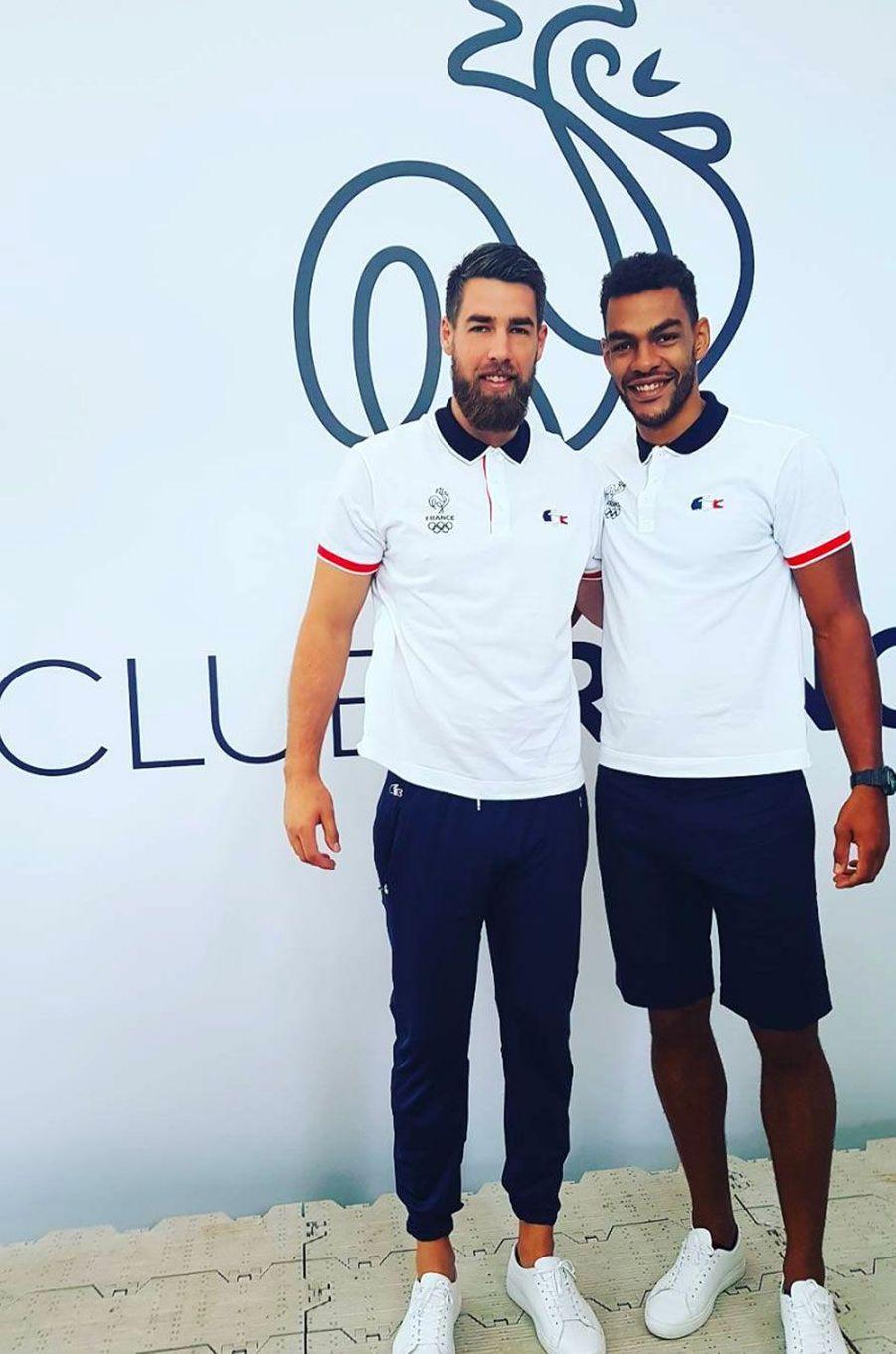 Nikola Karabatic et Adrien DiPanda au club France