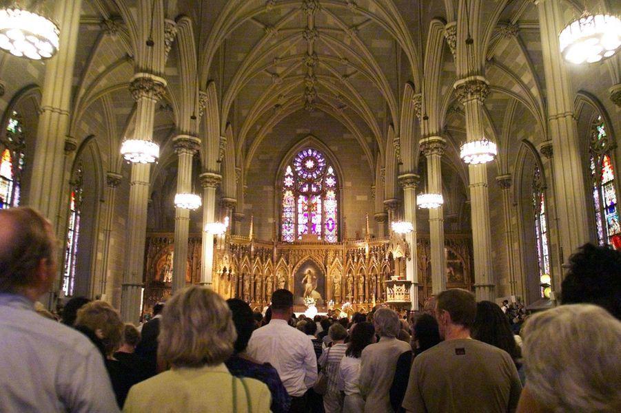 Funérailles de John à l'Eglise Saint Patrick de New York, le 22 juillet 1999
