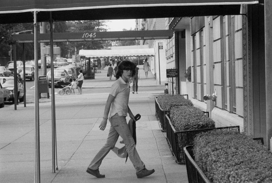 John F. Kennedy, Jr dans les années 1970 à New York.