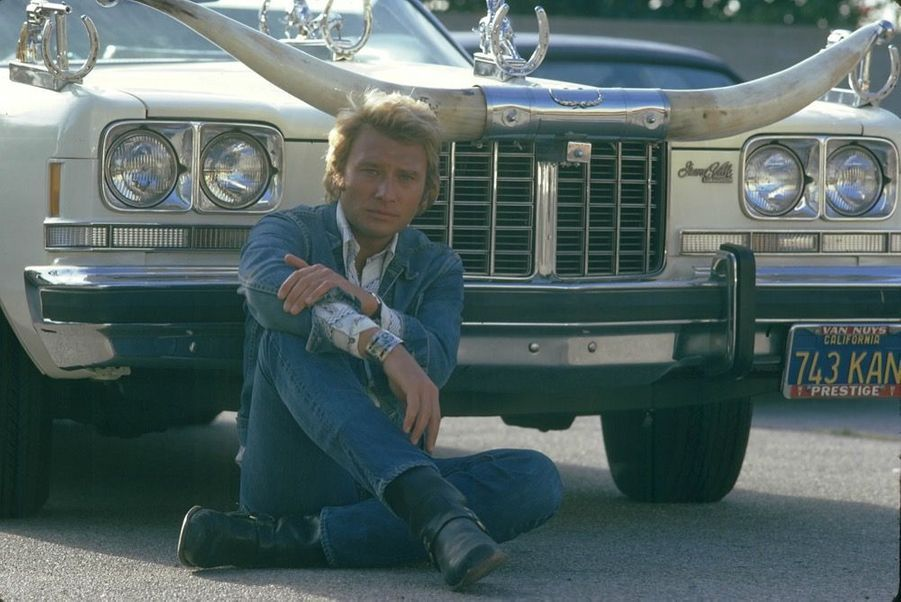 Johnny Hallyday, Californie, 1974
