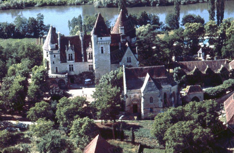 Le Château des Milandes de Joséphine Baker en 1964.