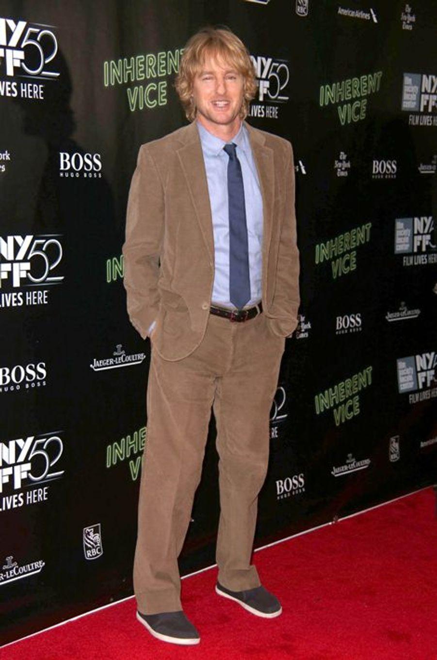 """Owen Wilson à la projection de """"Inherent Vice"""" à New York"""