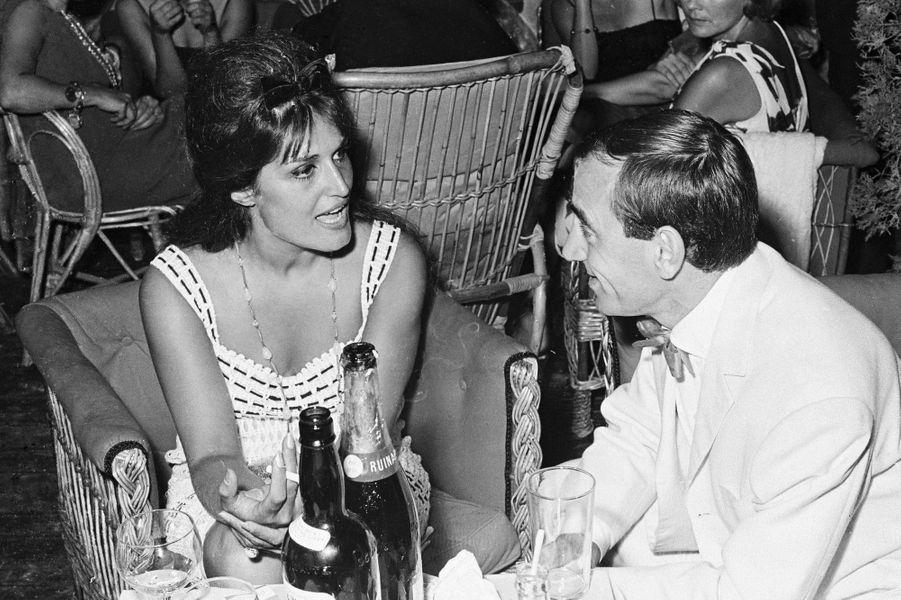 Dalida et Charles Aznavour, en 1967, participent à la soirée privéeBarclay-Pacini.