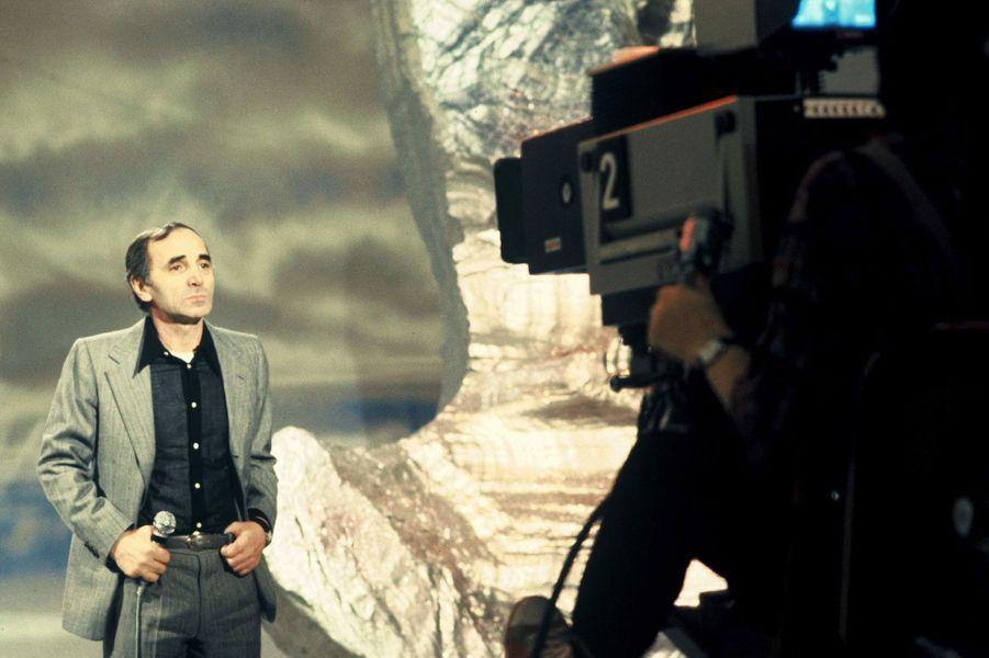 Charles Aznavour à la télévision en 1978.