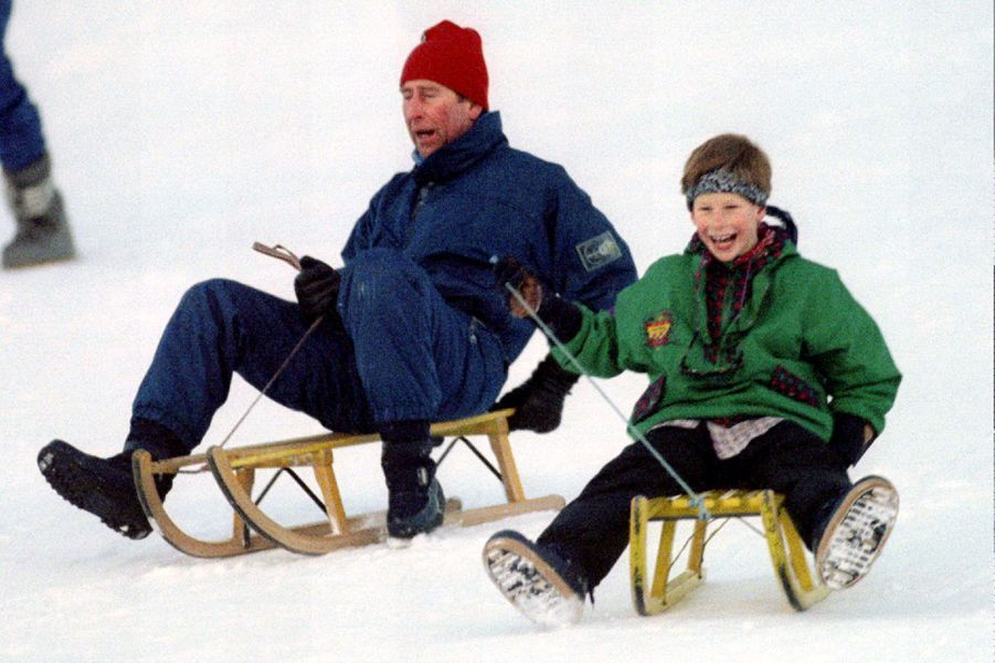 Avec Charles, au ski, en 1995