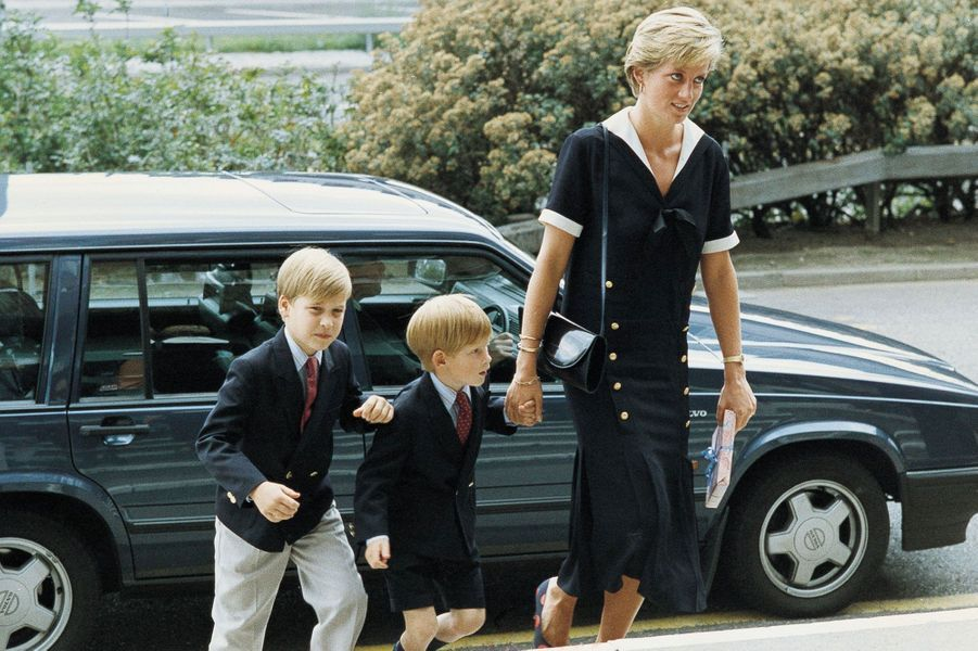 Avec William et Diana, en 1990