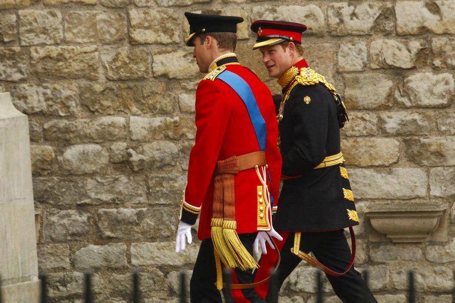 Harry, au mariage de William et Kate, en 2011