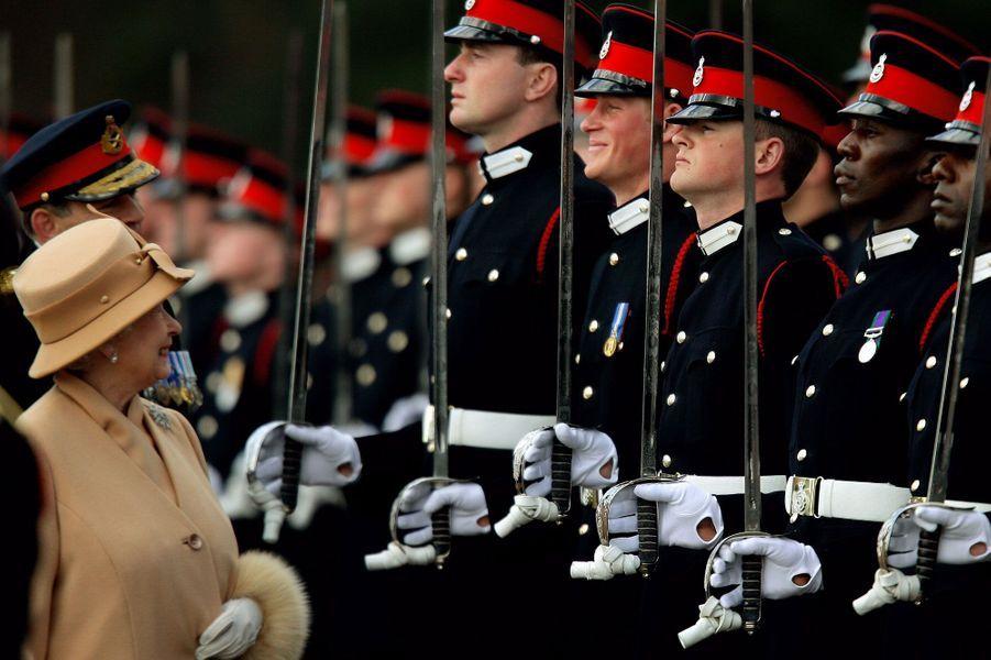 Moment complice avec la reine, en 2006