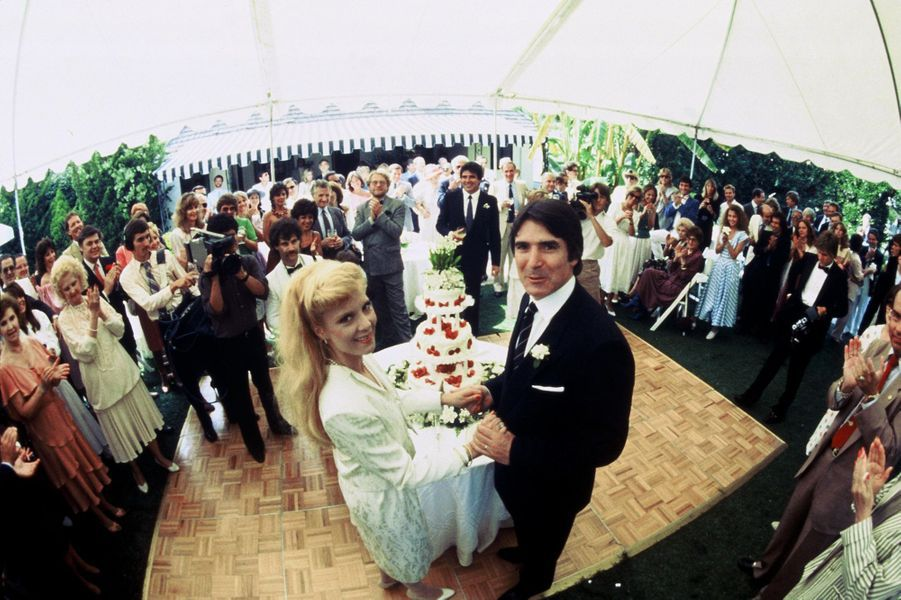 Le mariage de Sylvie Vartan et Tony Scotti, en 1984