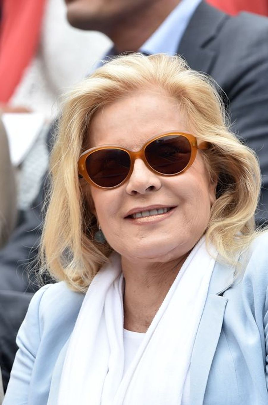 Sylvie Vartan à Roland Garros, en juin 2014