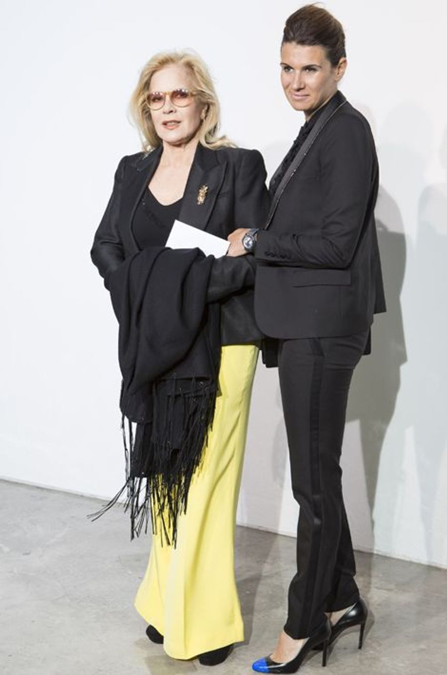 Sylvie Vartan avec Alexandra Pastor, la femme de son fils David Hallyday, en mai 2013