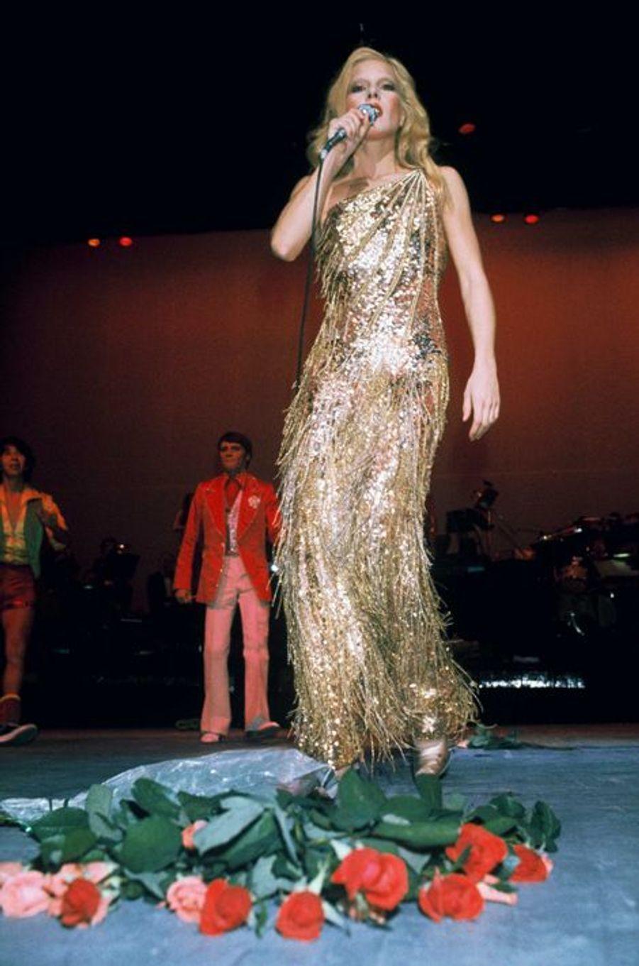 Sylvie Vartan, en 1975