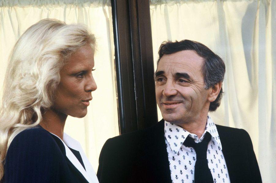 Sylvie Vartan et Charles Aznavour, en 1980