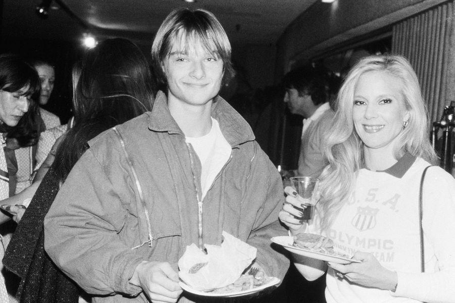 Sylvie Vartan et David Hallyday, en 1983