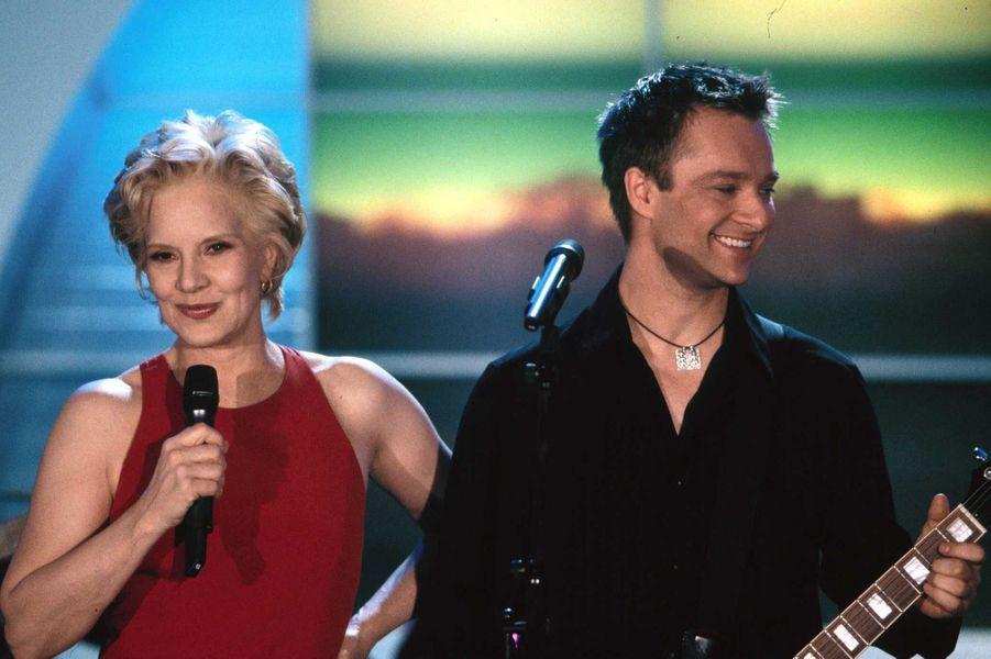Sylvie Vartan et David Hallyday, en 2000