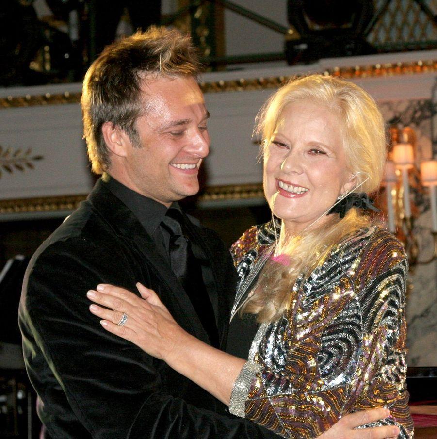 Sylvie Vartan et David Hallyday, en décembre 2006