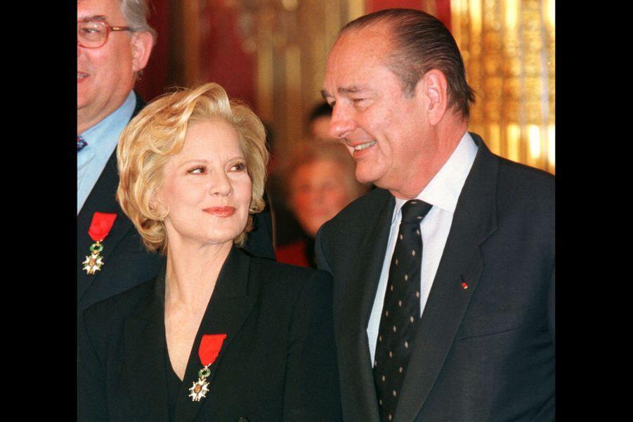 Sylvie Vartan et Jacques Chirac, en novembre 1998