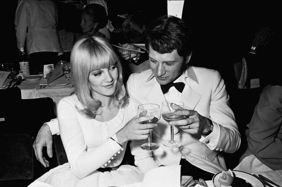 Sylvie Vartan et Johnny Hallyday, en décembre 1966