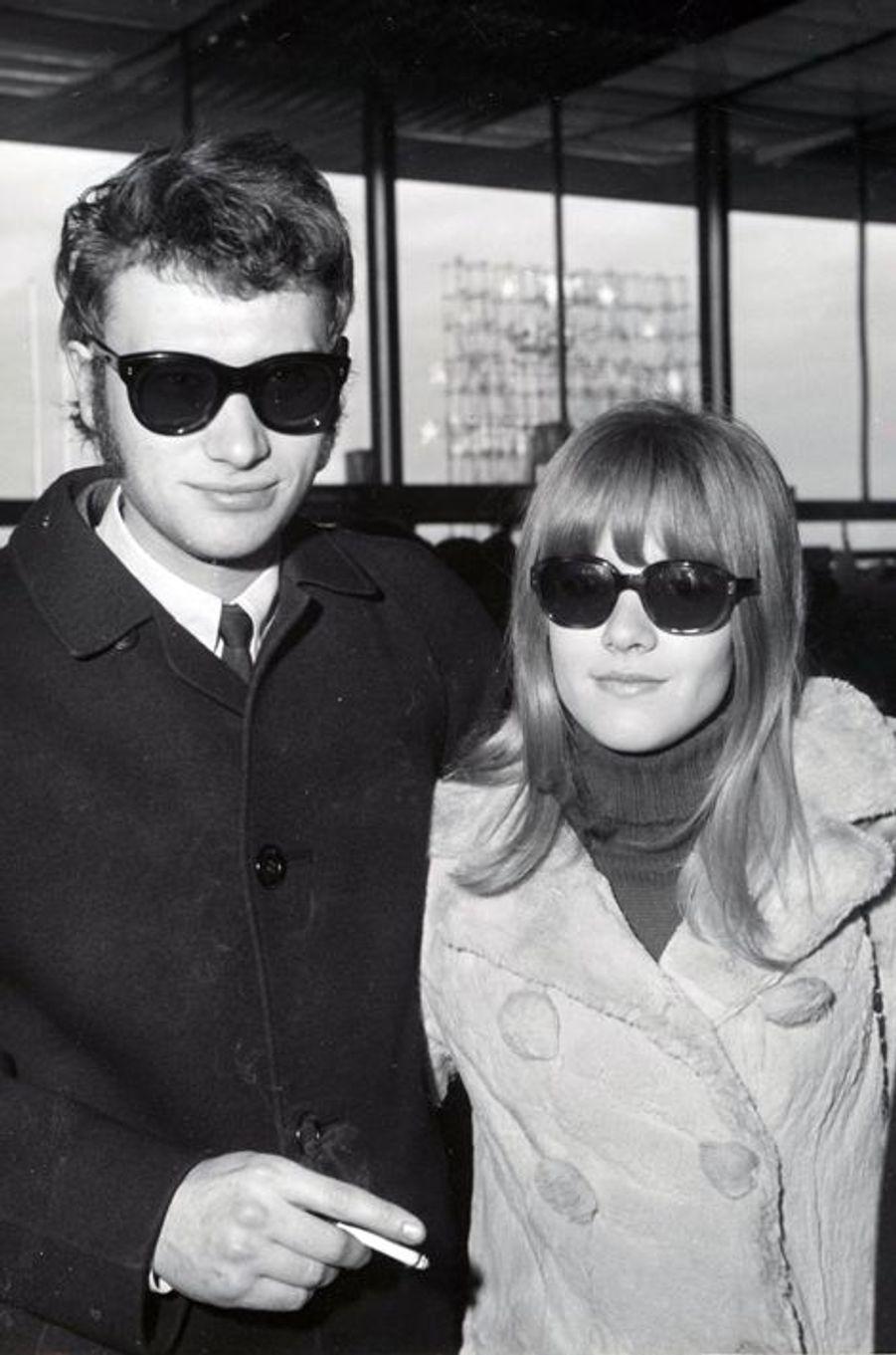 Sylvie Vartan et Johnny Hallyday, en janvier 1966