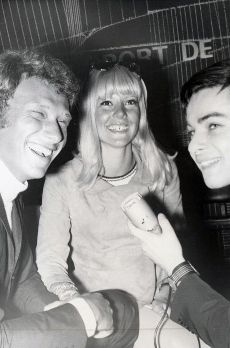 Sylvie Vartan et Johnny Hallyday, en mai 1966