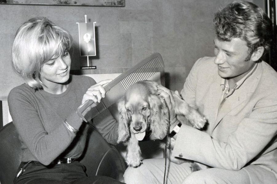 Sylvie Vartan et Johnny Hallyday, en octobre 1971