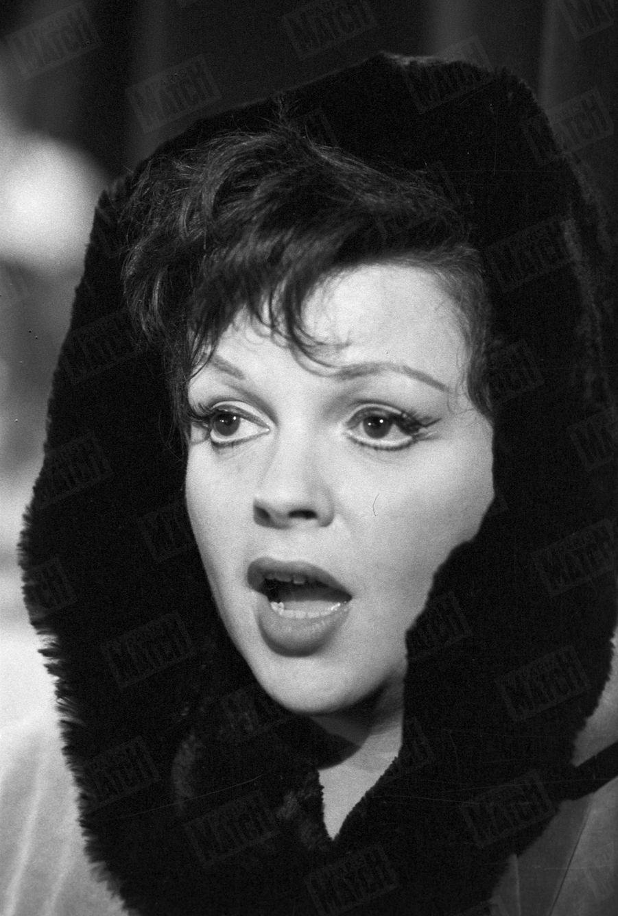 Judy Garland au Palais de Chaillot en octobre 1960.