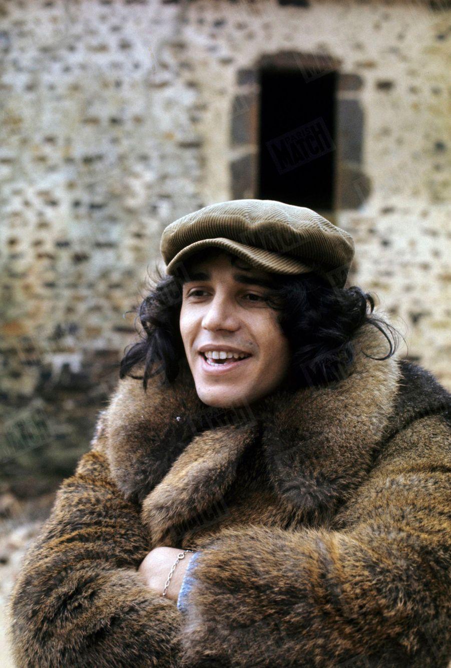Julien Clerc en tournée en France, en mars 1972.