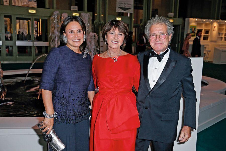 Terry de Gunzburg, Martine et Laurent Dassault.