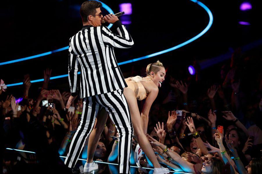 Robin Thicke et Miley Cyrus