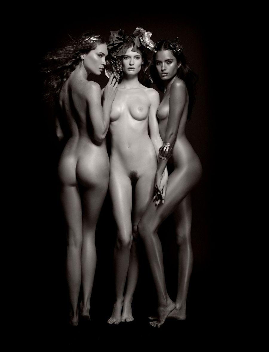 Trois bacchantes pour le calendrier Pirelli 2011 : Erin Wasson, Bianca Balti, Lakshmi Menon.