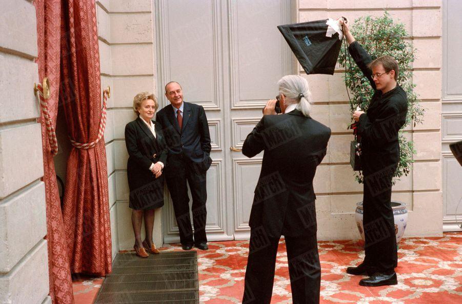 Bernadette et Jacques Chirac, le 5 mai 2002 :second tour de l'élection présidentielle.