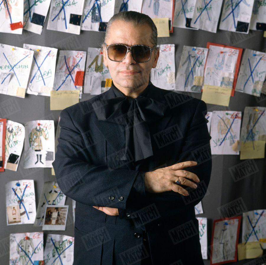 Karl Lagerfeld, à Paris en octobre 1988.