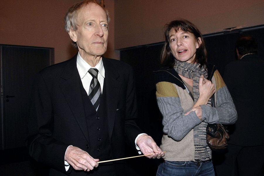 En novembre 2007 à Auxerre avec son père, John Barry