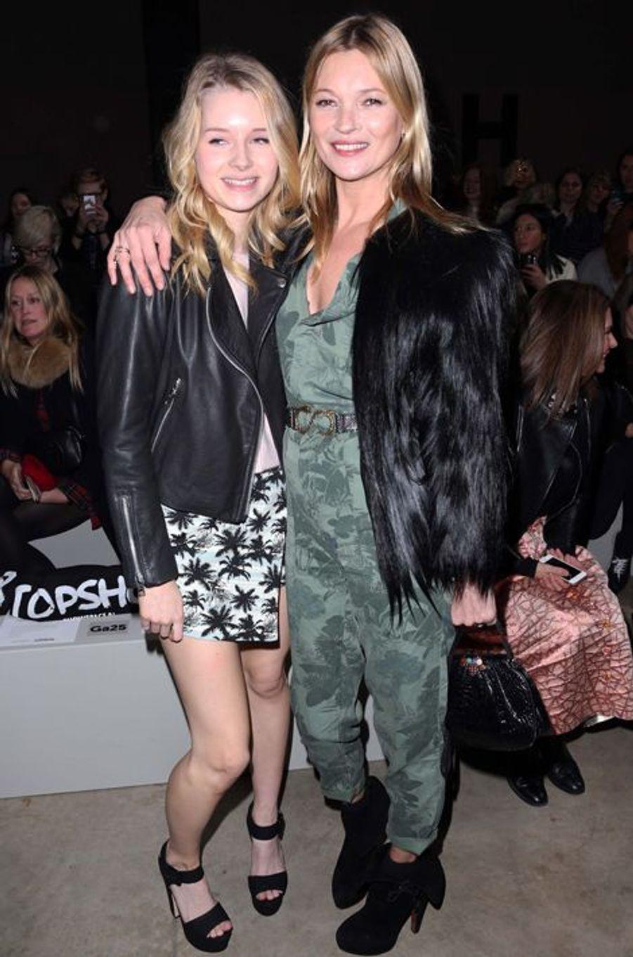 Lottie et Kate Moss