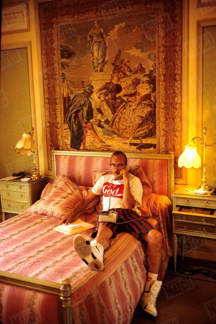 Keith Haring au Ritz à Paris en juin 1989.