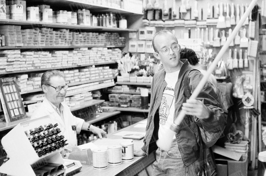Keith Haring à Paris en juin 1989