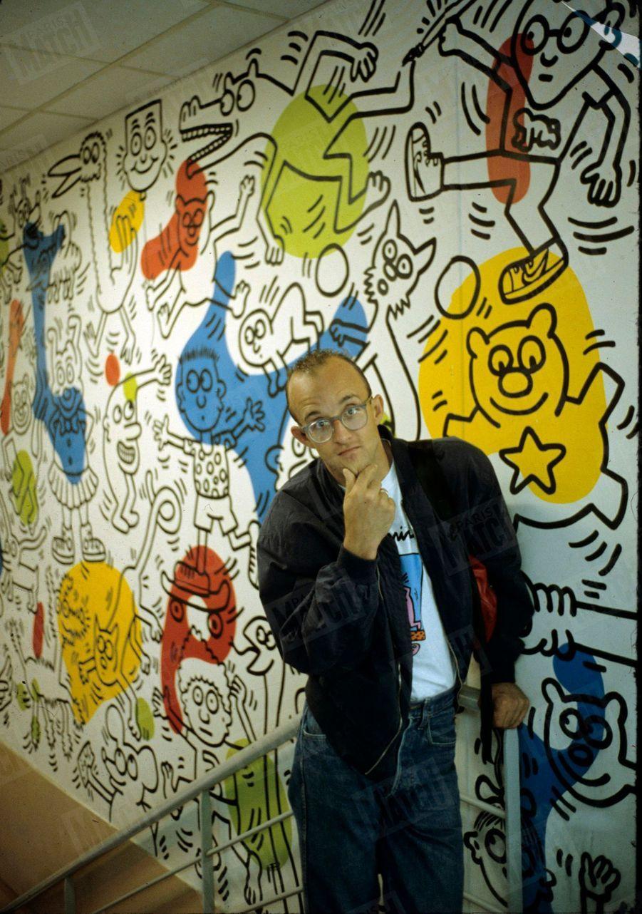 Keith Haring à Paris en juin 1989.