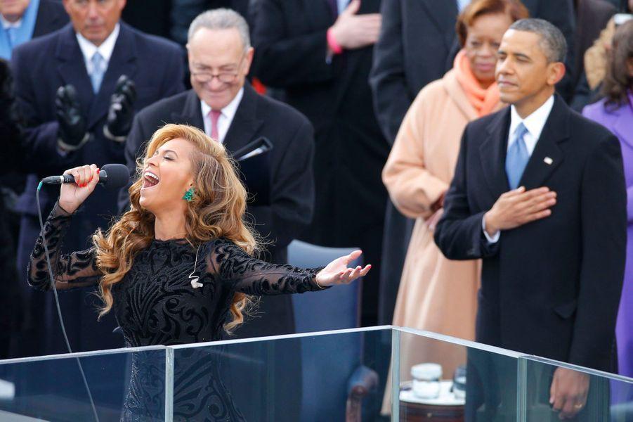 Un show à l'Américaine, avec Beyonce pour chanter l'hymne de la bannière étoilée.Voir le diaporama