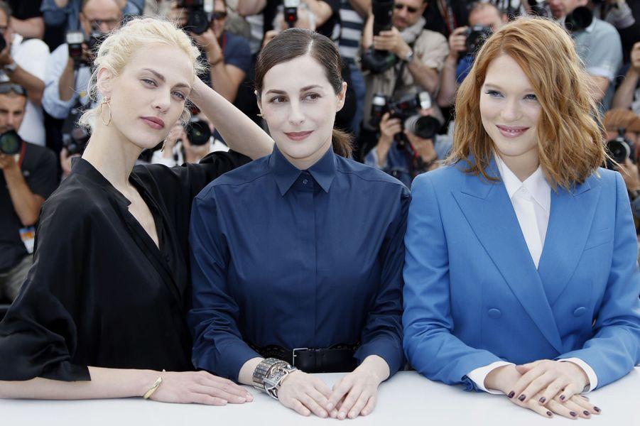 Aymeline Valade, Amira Casar et Léa Seydoux