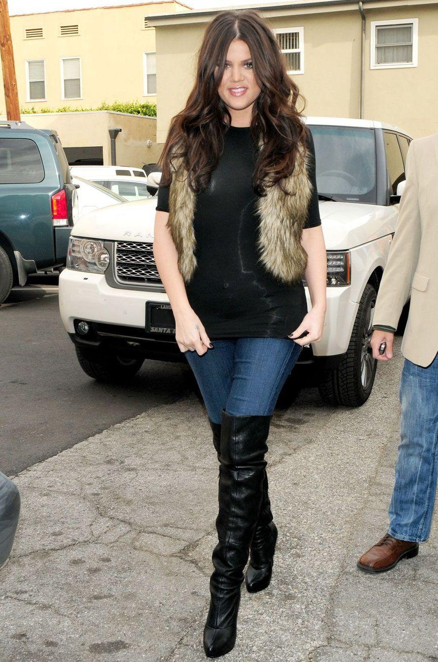 Khloé Kardashian en décembre 2009