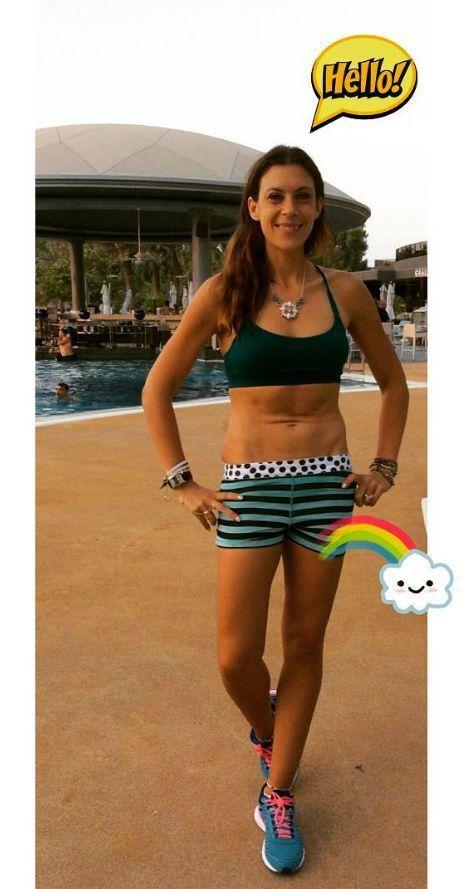 Marion Bartoli à Dubaï dimanche dernier. Depuis 2013, l'ex-joueuse de tennis a perdu 13 kilos.