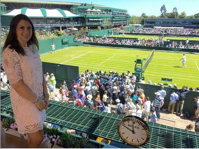 Marion Bartoli au tournoi de Wimbledon il y a environ 13 semaines. Depuis 2013, l'ex-joueuse de tennis a perdu 13 kilos.