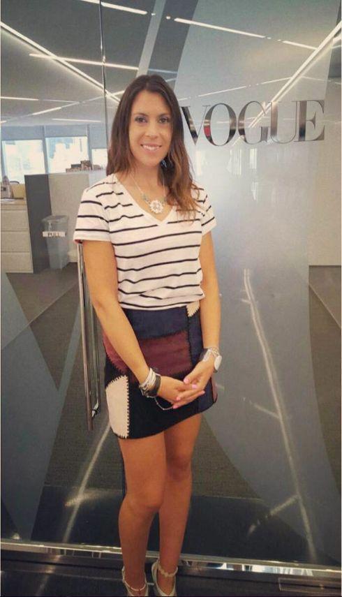 Marion Bartoli dans les locaux new-yorkais de Vogue il y a environ 4 semaines. Depuis 2013, l'ex-joueuse de tennis a perdu 13 kilos.