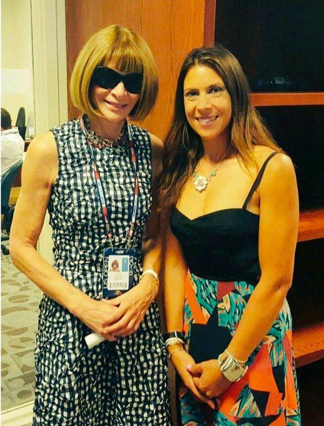 Marion Bartoli et la mythique Anna Wintour il y a environ 3 semaines. Depuis 2013, l'ex-joueuse de tennis a perdu 13 kilos.