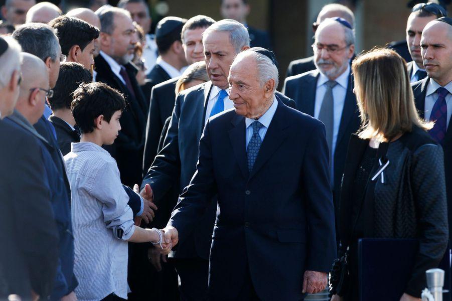 Le président Shimon Peres