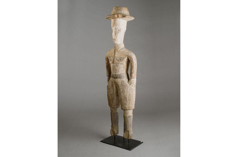 Nigeria (?), XXe siècle, bois, haut. 193,5 cm