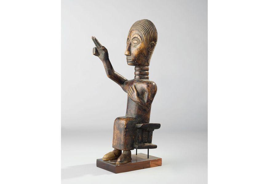 Akhan, XXe siècle, Ghana, bois, 29 cm et 26 cm