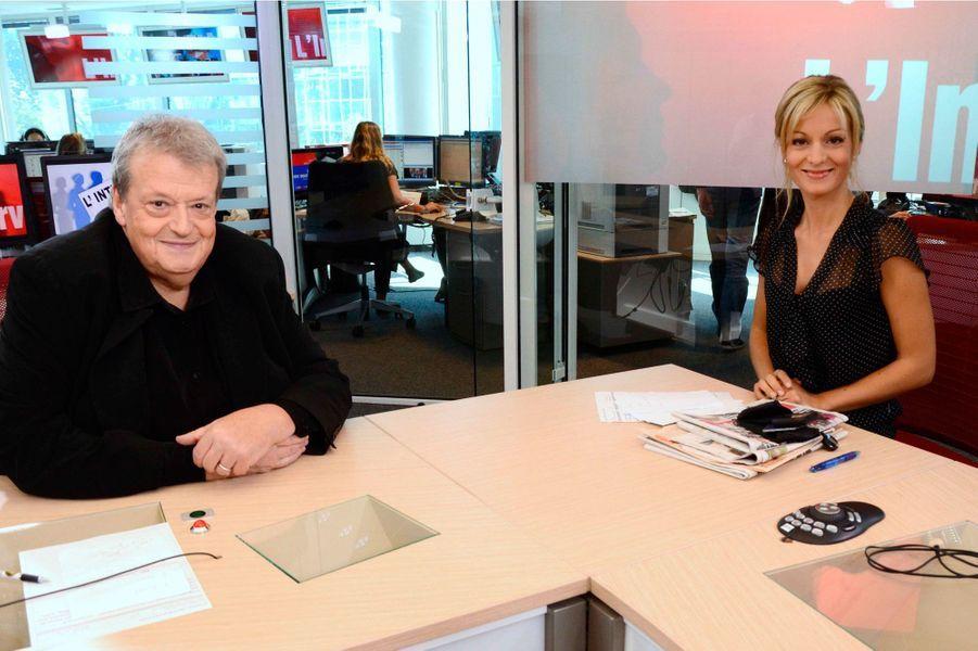 Avec Guy Carlier sur le plateau de LCI