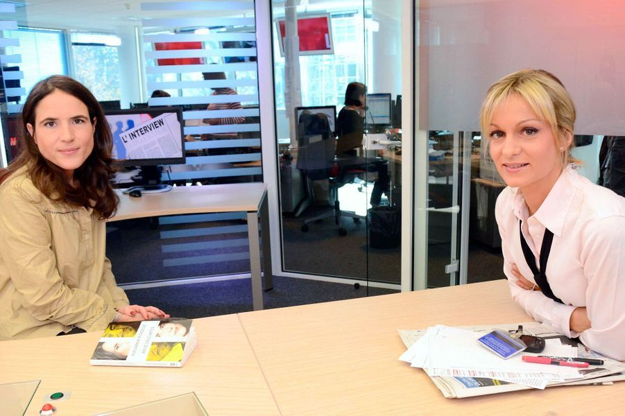 Avec Mazarine Pingeot sur le plateau de LCI