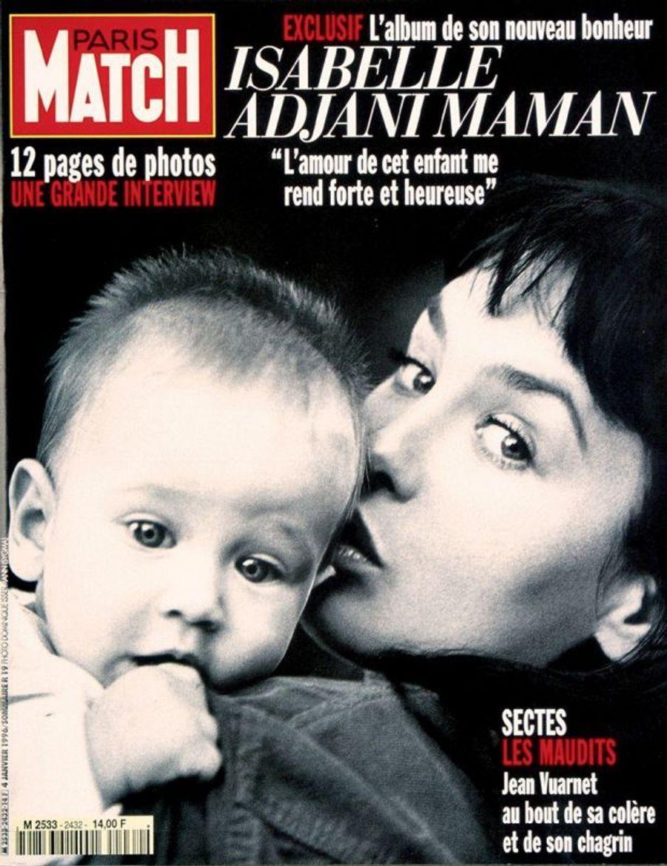 Avec Isabelle Adjani en couverture de Paris Match.